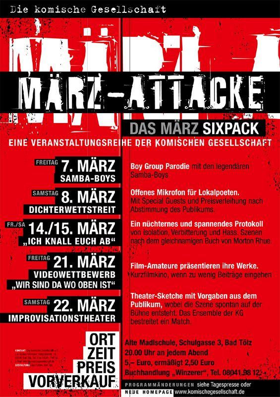 Plakat Märzattacke